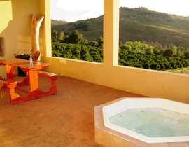 Allandale Veranda with jacuzzi and braai area